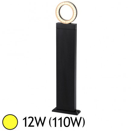 Potelet diffuseur rond LED 12W (110W) IP54 Blanc chaud 3000°K Anthracite
