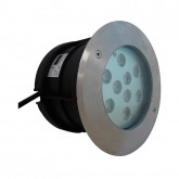 Spot LED encastrable sol 10W (90W) IP67 4500°K INOX Rond Ø165