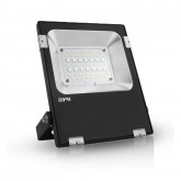 Projecteur Led Plat Ext 20W (180W) IP65 RGB+ Blanc Finition Noir