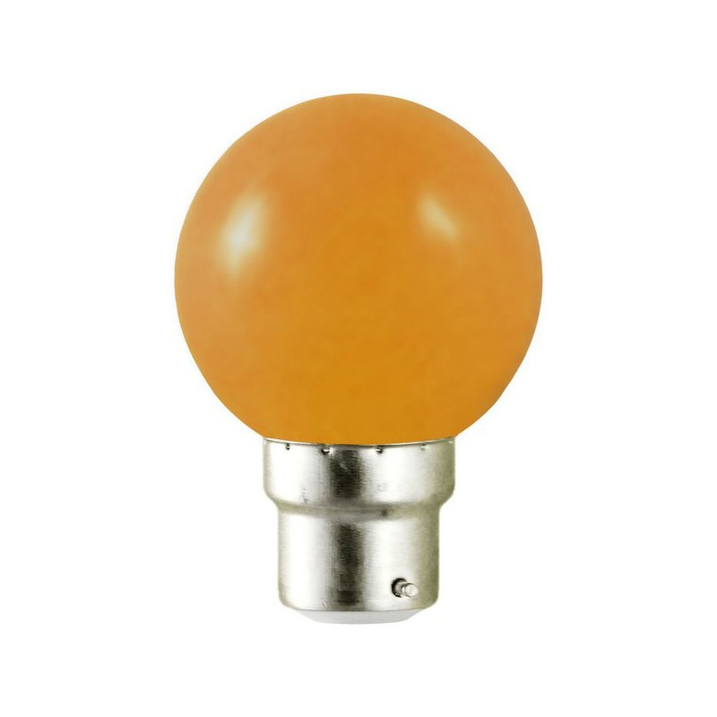 ampoule led orange 1w 9w b22 bulb led et fluo. Black Bedroom Furniture Sets. Home Design Ideas