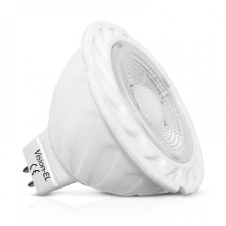 Spot Led COB 5W (45W) GU5.3 12V DC Dimmable Blanc jour 6000°K Angle 75°