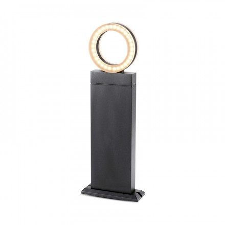 Potelet diffuseur rond LED 12W (110W) IP54 Blanc jour 4000°K Anthracite