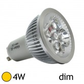 Led 4W GU10 Dimmable - Blanc chaud 2700