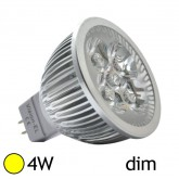 Spot Led 4W (40W) GU5.3 Dimmable 12V Blanc chaud