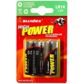 Piles (x2) LR14 1.5V Super Alcaline Pro High Power