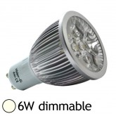 Spot Led dimmable 6W (60W) GU10 Blanc jour 4000°K