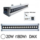 Wall Washer Led 20W (180W) IP 67 DMX Blanc jour