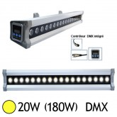 Wall Washer Led 20W (180W) IP 67 DMX Blanc chaud