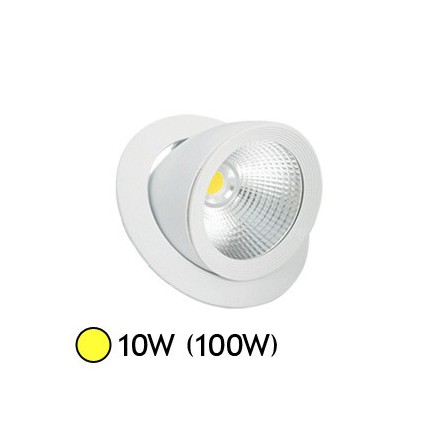 spot led encastrable  escargot cob w orientable blanc chaud