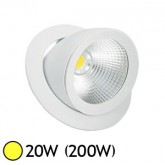 Spot Led escargot COB 20W (200W) encastrable orientable Blanc chaud