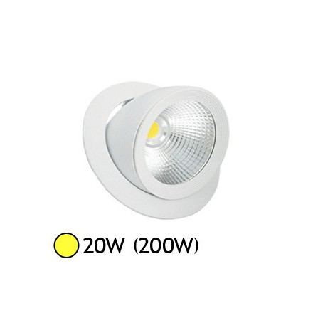 Spot led escargot cob 20w 200w encastrable orientable blanc chaud led et fluo - Spot encastrable orientable ...