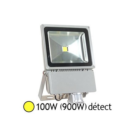 Projecteur led 100w 900w ext ip65 blanc chaud 3000 k for Projecteur led exterieur 100w