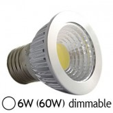 Spot LED 6W (60W) COB E27 Dimmable Blanc jour