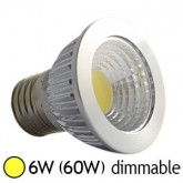 Spot LED 6W (60W) COB E27 Dimmable Blanc chaud